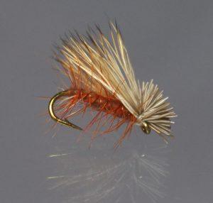 Elk hair caddis brown